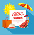 summer holidays set icons vector image