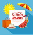 summer holidays set icons vector image