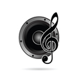 treble clef with speaker icon vector image