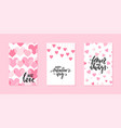valentines day and wedding card template hand vector image vector image