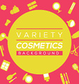 Variety Cosmetics Background vector image vector image