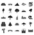 view icons set simple style vector image vector image
