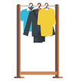 wardrobe element clothes on hanger sale vector image vector image