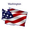 washington full american flag vector image