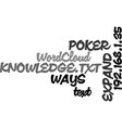 ways to expand your poker knowledge text word vector image vector image