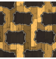 Wild west labels seamless pattern