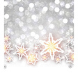 Winter shining background with snowflakes vector image vector image