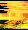 yellow glitch background vector image vector image