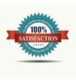 100 satisfaction guaranteed retro label with red vector image