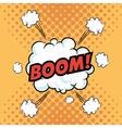 Boom explosion pop art comic design vector image