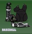 isolated baseball uniform vector image