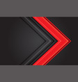 abstract red light arrow direction on dark grey vector image vector image