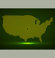 abstract usa map radial lines vector image vector image