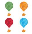 air balloons set polygon art vector image vector image