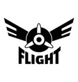 air flight logo simple style vector image vector image