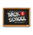 back to school design with school chalkboard and vector image vector image
