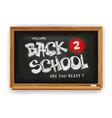 back to school design with school chalkboard vector image vector image
