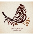 Background with stlized bird vector image vector image