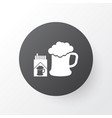 beer with cigarettes icon symbol premium quality vector image