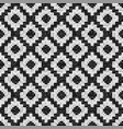 black and white rhombuses mosaic seamless pattern vector image vector image