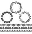 black circle frames and border patterns vector image vector image