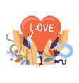 building a relationship concept vector image