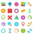 button icons set cartoon style vector image vector image