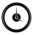 clock deadline icon simple black style vector image