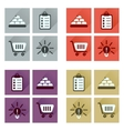 Concept of flat icons with long shadow economics vector image vector image