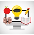 education learning flat icons vector image