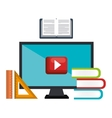 education online book and video virtual graphic vector image