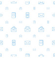 email icons pattern seamless white background vector image vector image