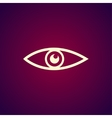 Eye icon Flat design style vector image vector image