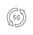 fast 5g internet line icon isolated on white vector image vector image