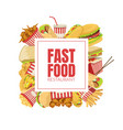 fast food banner template menu or advertising vector image vector image