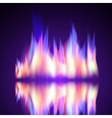 gas fire flame burn background vector image
