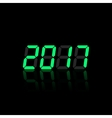 Green digital numbers 2016 year time vector image vector image