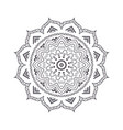 hand drawn flower mandala for coloring book vector image vector image