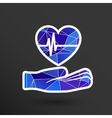 heart ecg in hand Icon abstract logo type vector image vector image