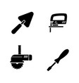 home repair tools simple related icons vector image