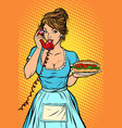 hot dog sausage delivery hotel service waitress vector image