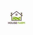 house farm logo design abstract vector image vector image