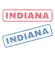 indiana textile stamps vector image vector image