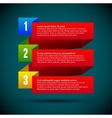 Infographic with ribbons and colored numbers vector image vector image