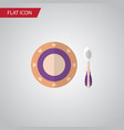 isolated dish flat icon baby plate element vector image vector image