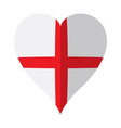isolated flag of england on a heart shape vector image vector image