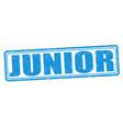 junior grunge stamp vector image