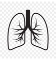 lungs outline icon cold cough and bronchitis lung vector image vector image