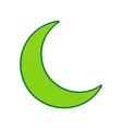 moon sign lemon scribble vector image
