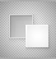open paper square box vector image
